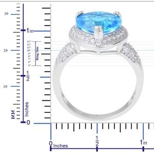 Unknown Jewelry - Blue Topaz Ring